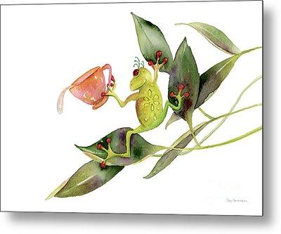 She Frog Metal Print by Amy Kirkpatrick