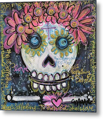 Metal Print featuring the painting She Is Something To Behold by Laurie Maves ART