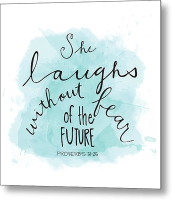 She Laughs Metal Print