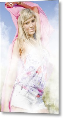 She Moves In Mysterious Ways Metal Print