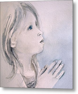 Metal Print featuring the painting She Prays by Allison Ashton