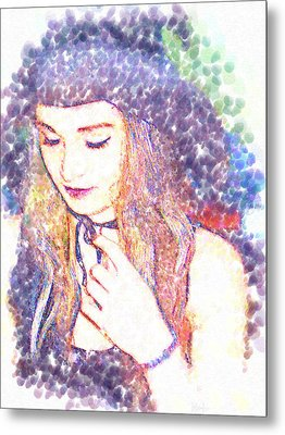 She Smiles Metal Print