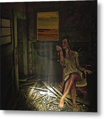 She Waits For Him To Return Metal Print by Jeff Burgess
