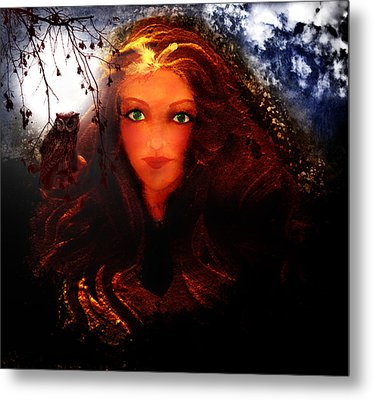 She Watches Metal Print