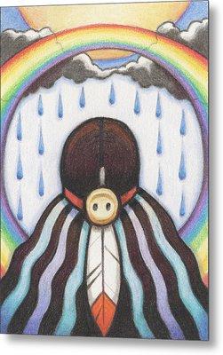 She Who Brings The Rain Metal Print by Amy S Turner