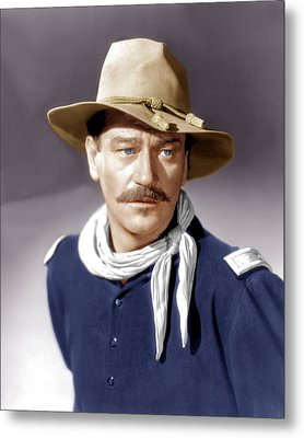 She Wore A Yellow Ribbon, John Wayne Metal Print by Everett