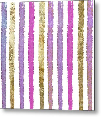 She Wore Stripes Metal Print by Mindy Sommers