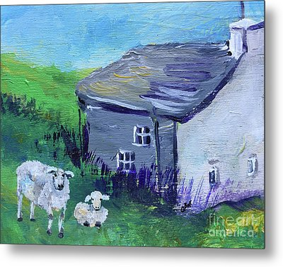 Sheep In Scotland  Metal Print by Claire Bull