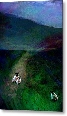 Sheep On The Moor Metal Print