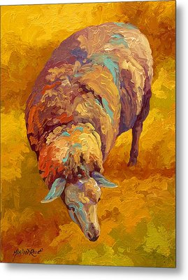 Sheepish Metal Print by Marion Rose
