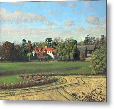 Sheering Hall Near Harlow Essex Metal Print by Richard Harpum