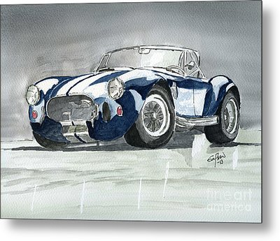 Metal Print featuring the painting Shelby Cobra by Eva Ason