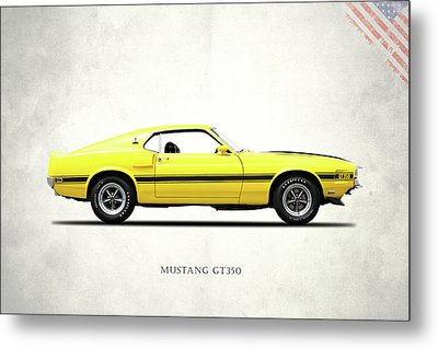 Shelby Mustang Gt350 1969 Metal Print