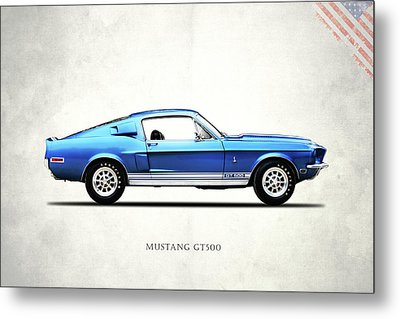 Shelby Mustang Gt500 1968 Metal Print by Mark Rogan