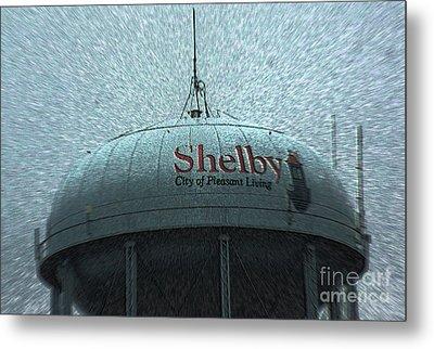 Shelby North Carolina Water Tower Metal Print
