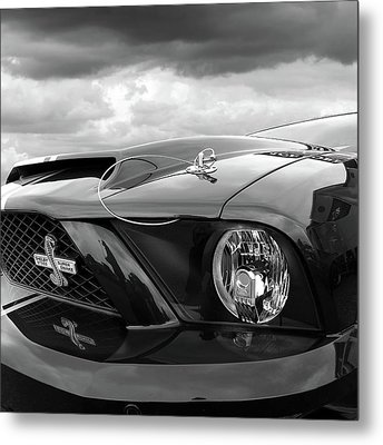 Metal Print featuring the photograph Shelby Super Snake Mustang Grille And Headlight by Gill Billington