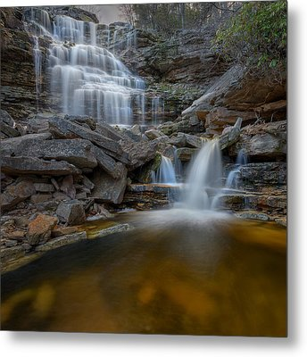 Sheldons Falls Square Metal Print by Bill Wakeley