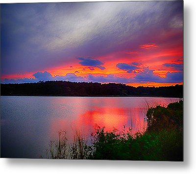 Metal Print featuring the photograph Shelf Cloud At Sunset by Bill Barber