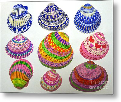Shell Art Metal Print