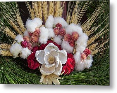Shell Flower On Prentis Shop Wreath Metal Print