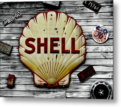 Shell Gas Metal Print