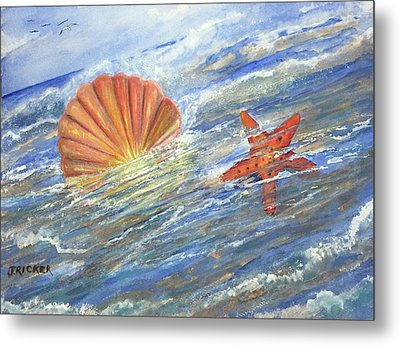 Shell Star  Metal Print