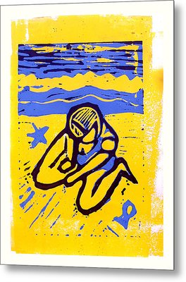 Shellie - The Yellow Sand Metal Print by Adam Kissel