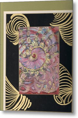 Shells And Golden Rings Metal Print by Anne-Elizabeth Whiteway