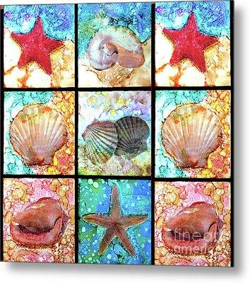 Shells X 9 Metal Print by Alene Sirott-Cope