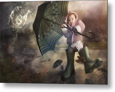 Shelter From The Storm Metal Print by Christophe Kiciak