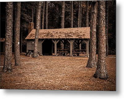 Shelter In The Woods Metal Print