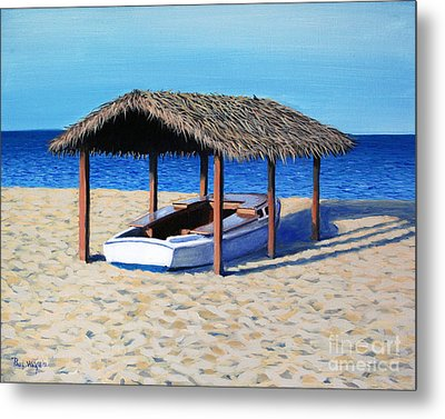 Sheltered Boat Metal Print by Paul Walsh