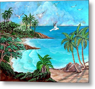 Sheltered Cove Metal Print by Fram Cama