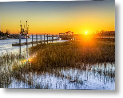 Shem Creek Sunset - Charleston Sc  Metal Print by Drew Castelhano
