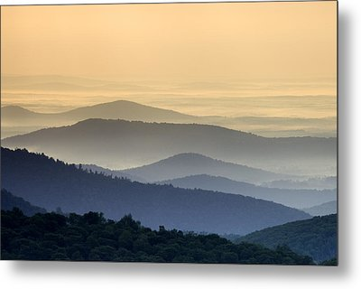 Shenandoah National Park Mountain Scene Metal Print by Brendan Reals