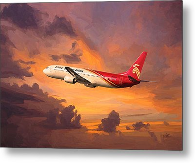 Shenzhen Airlines Enroute Metal Print