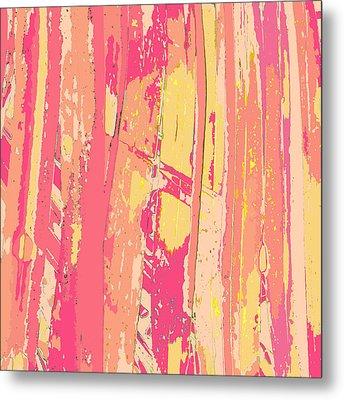 Sherbet Palms Metal Print by Rosie Brown