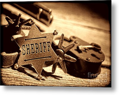 Sheriff Tools Metal Print by American West Legend By Olivier Le Queinec