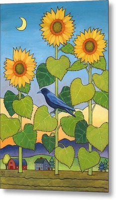 Sheris Sunflowers Metal Print
