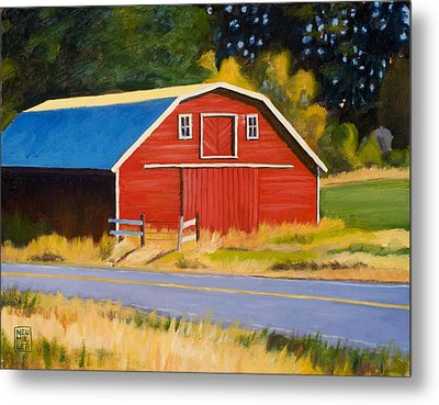 Sherman Barn Metal Print by Stacey Neumiller