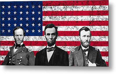 Sherman - Lincoln - Grant Metal Print by War Is Hell Store