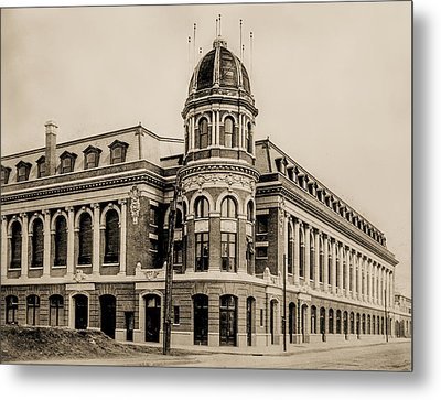 Shibe Park 1913 In Sepia Metal Print by Bill Cannon