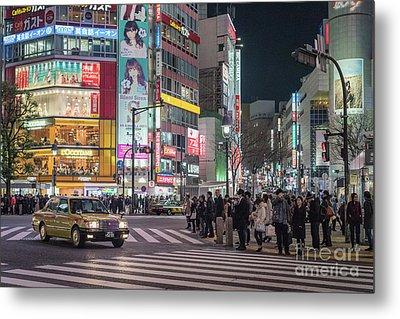 Shibuya Crossing, Tokyo Japan Metal Print