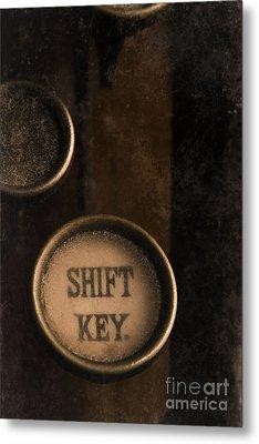 Shift Key Metal Print