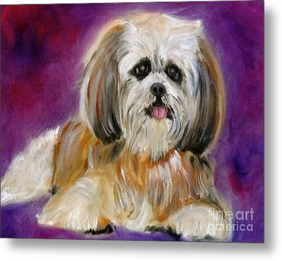Shih-tzu Puppy Metal Print by Jenny Lee