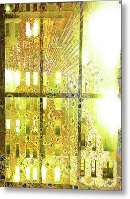 Metal Print featuring the mixed media Shine A Light by Tony Rubino