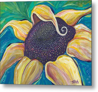 Metal Print featuring the painting Shine Bright by Tanielle Childers
