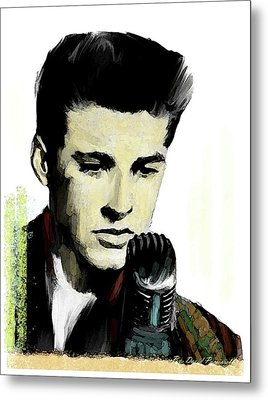 Shine On Youth  Ricky Nelson Metal Print by Iconic Images Art Gallery David Pucciarelli