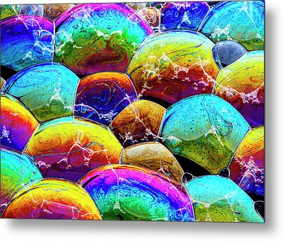Metal Print featuring the photograph Shiney Bubbles by Jean Noren