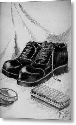 Shining Shoes Metal Print by Archit Singh